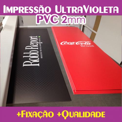 Impressão U.V. em PVC 2mm + Refile