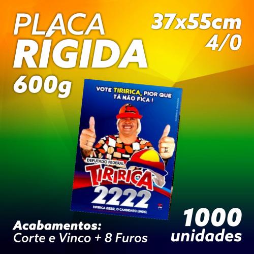 PLACA RÍGIDA - DUPLEX 600G SEM VERNIZ 37X55 - 4X0 1000UND
