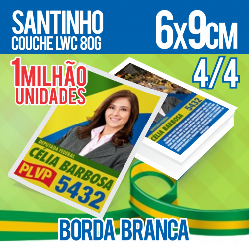 SANTINHO LWC 80G SEM VERNIZ 6X9 4X4 1MILHÃO