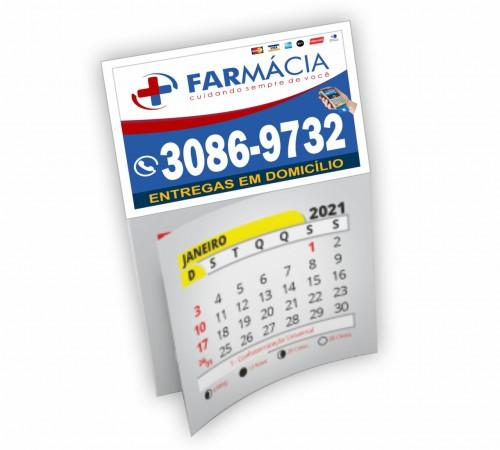 Ímã c/ Corte Reto 250g - Manta Total 7x5 - 4x0 -  Com Calendario
