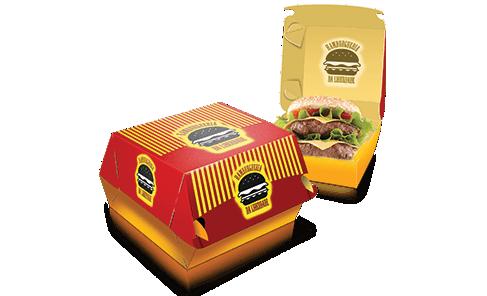 Embalagem de Hambúrguer 4x4